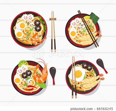 Japanese Ramen On A Bowl , Noodle Soup in Chinese 66568245