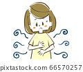 擔心體味或衣服,身體狀況不佳的女人 66570257