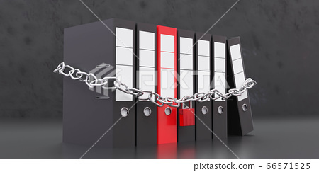 Protected Files confidental documents data security concept 3d rendering illustration 66571525