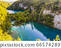 Lower lake canyon at Plitvice Lakes National Park 66574289