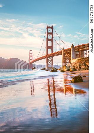 Golden Gate Bridge at sunset, San Francisco, California, USA 66575758