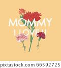母親節康乃馨賀卡 66592725