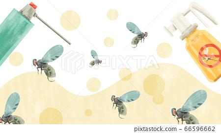 用殺蟲劑水彩手繪插圖滅蠅 66596662
