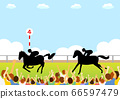 Race Horses and Racecourse Spectators 66597479
