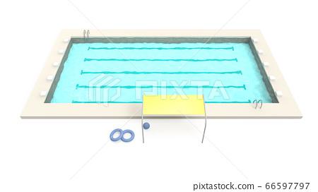 여름, 25m 수영장 학교 수영장 66597797