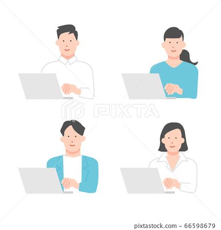 經營個人計算機的商人 66598679