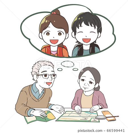 Senior generation making plans (meeting grandchildren) 66599441