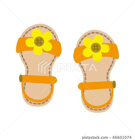 向日葵涼鞋圖 66601074