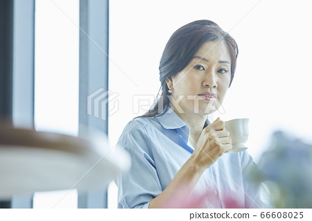 중년,커피,집,카페 66608025