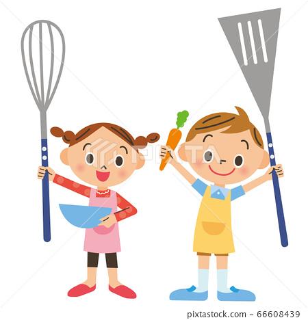 孩子們喜歡做飯 66608439