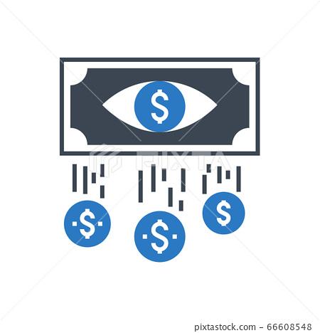 Cost Per Impression Vector Glyph Icon 66608548