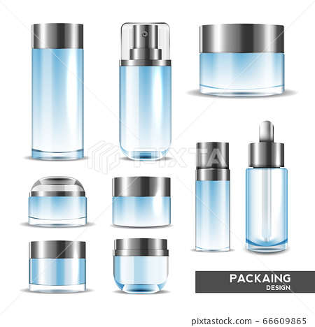 Packaging cosmetic beauty cream bottle for luxury cosmetic product. bottle for liquid, skin care cream. vector design. 66609865