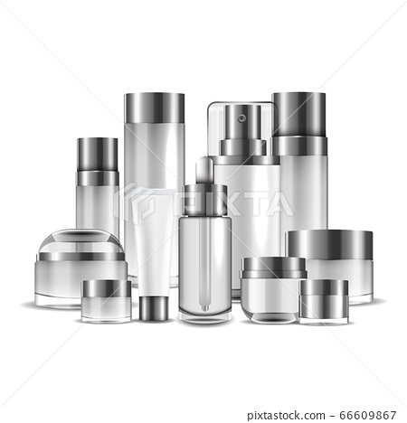 Packaging cosmetic beauty cream bottle for luxury cosmetic product. bottle for liquid, skin care cream. vector design. 66609867