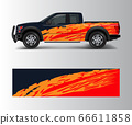 Graphic abstract grunge stripe designs for Truck 66611858