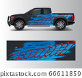 pickup truck graphic vector. abstract shape with 66611859