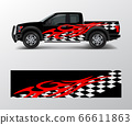 Racing graphic background vector for Truck, Pickup 66611863