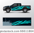 Truck And Vehicle car racing graphic for wrap and 66611864