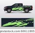offroad vehicle wrap design vector. Pickup truck 66611865