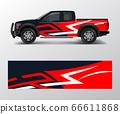 cargo van and car wrap vector, Truck decal 66611868