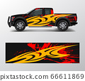 wrap graphic design vector for off road truck. 66611869