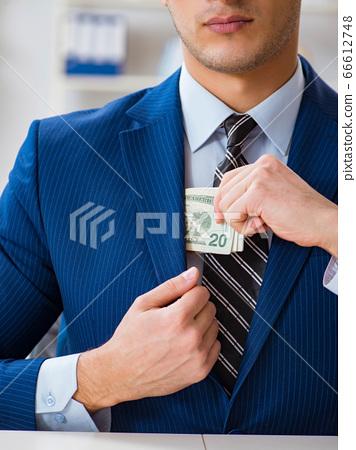 Businessman receiving his salary and bonus 66612748