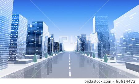 城市街道建築大樓市政廳大樓商務區辦公區3d圖背景回 66614472