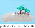 棕櫚樹,沙灘和飲料 66617782