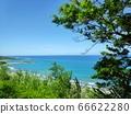 beautiful beach with nice sand coluds bule sky 66622280