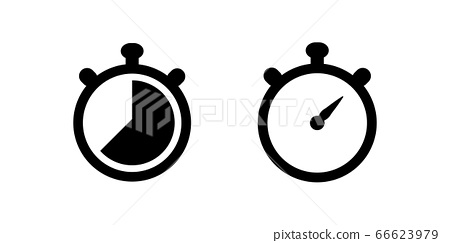 Stopwatch vector icon set for graphic design, logo, web site, social media, mobile app, ui illustration 66623979