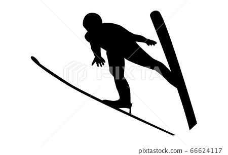 冬季運動剪影跳台滑雪9 66624117