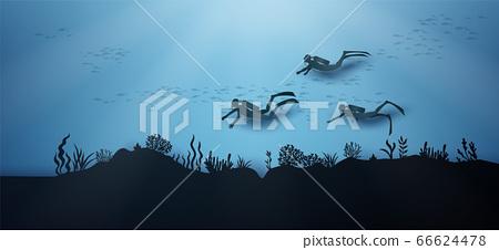 wildlife under sea 66624478