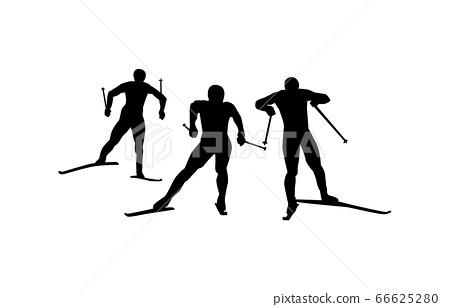 Winter sports silhouette Nordic composite 5 66625280