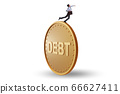 Businessman in debt and loan concept 66627411