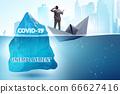 Economic crisis concept in coronavirus covid-19 66627416