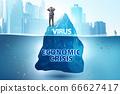 Economic crisis concept in coronavirus covid-19 66627417