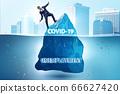 Economic crisis concept in coronavirus covid-19 66627420