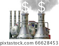 Carbon tax concept with industrial plant - 3d rendering 66628453