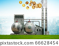 Carbon tax concept with industrial plant - 3d rendering 66628454