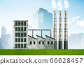 Carbon tax concept with industrial plant - 3d rendering 66628457