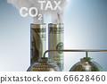 Concept of carbon tax in ecology concept - 3d rendering 66628460