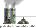 Concept of carbon tax in ecology concept - 3d rendering 66628461