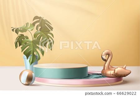 3d illustration of summer backdrop 66629022