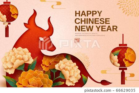Chinese new year celebrating poster 66629035