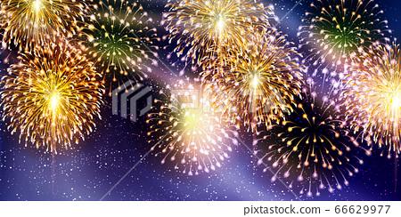 불꽃 놀이 여름 축제 배경 66629977