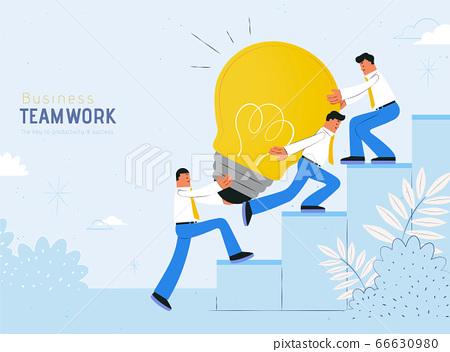 Teamwork concept flat design 66630980