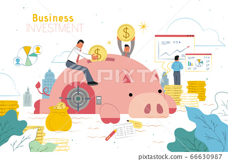 Investment design with piggy bank 66630987