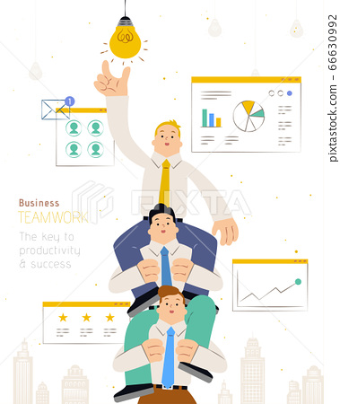 Business teamwork flat design 66630992