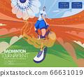 Badminton tournament poster 66631019