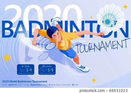 Badminton tournament poster 66631023