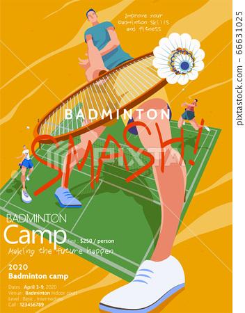 Badminton camp promotion poster 66631025